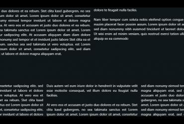 Text in Spalten