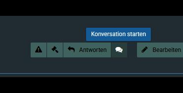 Beitrag Konversations Button